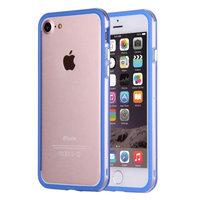 """Синий пластиковый бампер для iPhone 7 (4.7"""") с прозрачной полосой"""