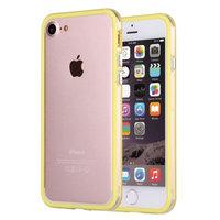 """Желтый пластиковый бампер для iPhone 7 (4.7"""") с прозрачной полосой"""