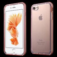 Прозрачный силиконовый чехол для iPhone 7 с бампером розовое золото