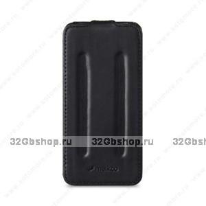Черный кожаный чехол Melkco Leather Case Craft Limited Edition Prime Twin (Black Wax Leather) для iPhone 5s / SE / 5