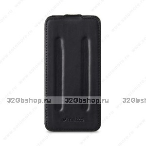 Черный кожаный чехол Melkco Leather Case Craft Limited Edition Prime Twin (Black Wax Leather) для iPhone 5s / SE / 5