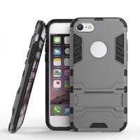 Силиконовый противоударный чехол для iPhone 7 черный с пластиковой вставкой - Armor Shockproof Protective Case