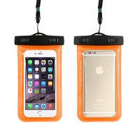 Оранжевый водозащитный чехол для iPhone 7 карман