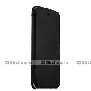 Черный кожаный чехол книжка для iPhone 7 / 7s (4.7) - Valenta Booklet Classic Style Black
