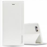 Кожаный чехол книга кошелек для iPhone 7 белый - Peacocktion Royal Series White
