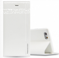 Белый кожаный чехол кошелек книжка для iPhone 7 Plus - Peacocktion Royal Series White