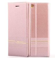 Кожаный чехол-книга кошелек для iPhone 7 Plus розовое золото - Peacocktion Venus Series Rose Gold