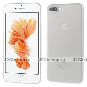 Серый ультратонкий пластиковый чехол для iPhone 7 Plus