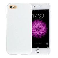 Белый глянцевый силиконовый чехол для iPhone 7