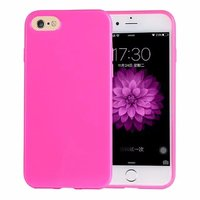 Ярко-розовый глянцевый силиконовый чехол для iPhone 7