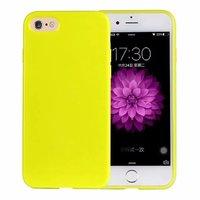 Желтый глянцевый силиконовый чехол для iPhone 7