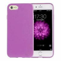 Фиолетовый глянцевый силиконовый чехол для iPhone 7