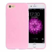 Розовый глянцевый силиконовый чехол для iPhone 7