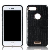 Черный кожаный чехол накладка Remax для iPhone 7 Plus