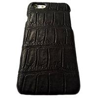 Черный чехол из кожи крокодила для iPhone 7