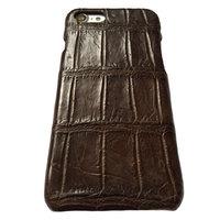 Коричневый чехол из крокодиловой кожи для iPhone 7