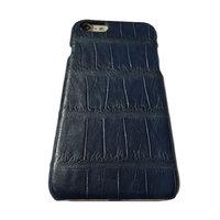 Синий чехол из кожи крокодила для iPhone 7