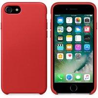 Красный кожаный чехол для Apple iPhone 7 Leather Case Red