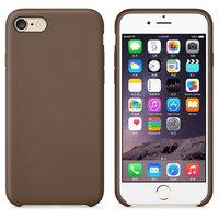 Коричневый кожаный чехол для Apple iPhone 7 Leather Case Brown