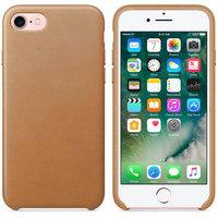 Золотисто-коричневый кожаный чехол для Apple iPhone 7 Leather Case Gold Brown