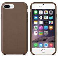 Коричневый кожаный чехол для Apple iPhone 7 Plus Leather Case Brown