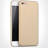 Пластиковый чехол для iPhone 7 золотой - Soft Touch Plastic Case Gold