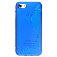 Силиконовый чехол для iPhone 7 синий с волной - S Line Wave TPU Silicone Case Blue