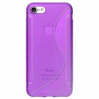 Силиконовый чехол для iPhone 7 фиолетовый c волной - S Line Wave TPU Silicone Case Purple