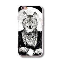 Силиконовый чехол для iPhone 7 рисунок Волк