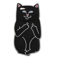Черный силиконовый чехол для iPhone 7 Кот