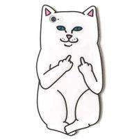 Белый силиконовый чехол для iPhone 7 Кот
