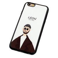 Черный силиконовый чехол для iPhone 7 Леон - Leon