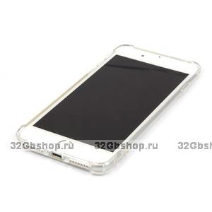 """Силиконовый чехол для iPhone  прозрачный - 7 Plus (5.5"""") усиленные углы"""