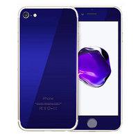 Защитное стекло для iPhone 7 -  на две стороны синие