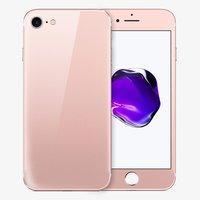 Защитное стекло для iPhone 7 -  на две стороны розовое золото