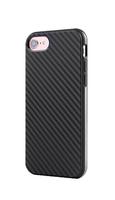 Черный силиконовый чехол для iPhone 7 / 8 имитация карбона