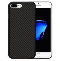"""Черный силиконовый чехол для iPhone 7 Plus (5.5"""") имитация карбона"""
