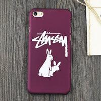 Тонкий пластиковый чехол для iPhone 7 Case vinous рисунок Кролики