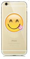 """Прозрачный силиконовый чехол для iPhone 6 / iPhone 6s (4.7"""") с рисунком смайл с языком"""