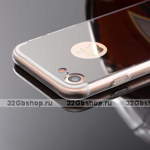 Зеркальный чехол для iPhone 7 с прозрачными краями