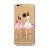 Прозрачный силиконовый чехол для iPhone 7 - Transparent Silicone Case с рисунком Подруги