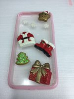 Прозрачный 3D чехол для iPhone 7 / 8 - Case - новогодний рисунок розовый ободок