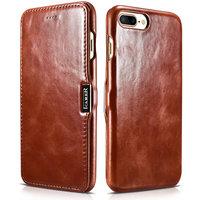 Коричневый кожаный чехол книга для iPhone 7 Plus винтажный с магнитной защелкой - i-Carer Vintage Series Side-open Magnetic Brown