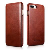 Кожаный чехол книжка для iPhone 7 Plus / 8 Plus винтажный коричневый - i-Carer Curved Edge Vintage Series Brown