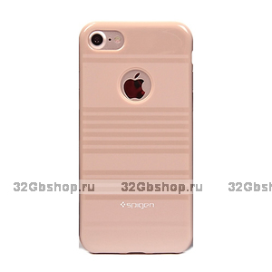 Силиконовый чехол для iPhone 7 бежевый - Spigen Silicone Case