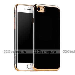 Силиконовый чехол для iPhone 7 / 7s Hoco Premium Gold