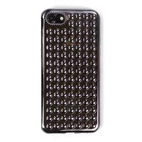 Черный объемный силиконовый чехол для iPhone 7 - 3D капли