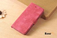 Кожаный чехол книжка подставка для iPhone 7 розовый