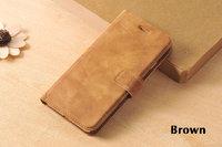Кожаный чехол книжка подставка для iPhone 7 коричневый