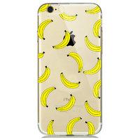 Прозрачный силиконовый чехол для iPhone 7 - Transparent Silicone Case с рисунком Бананы